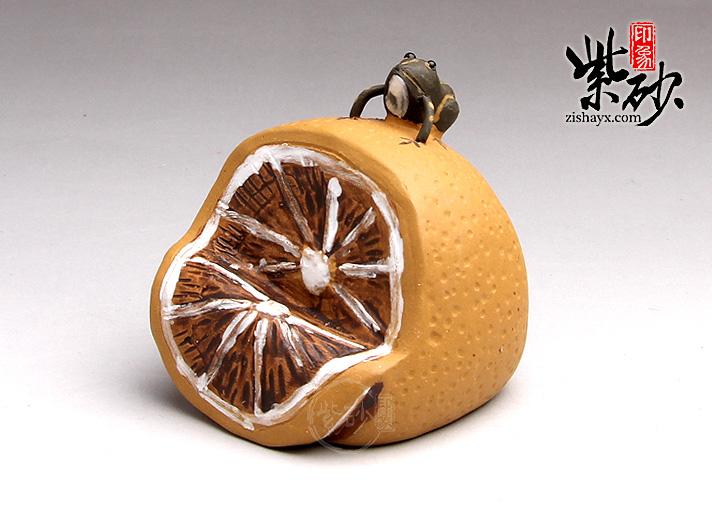 柠檬紫砂茶宠图片
