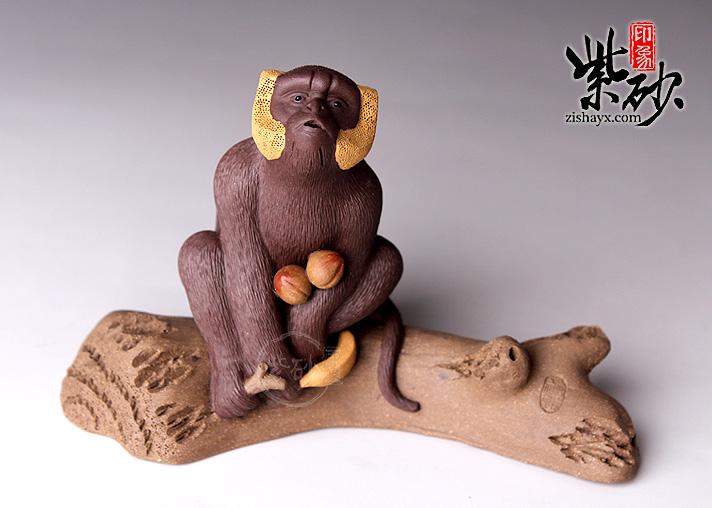 马志刚紫砂茶宠:树猴