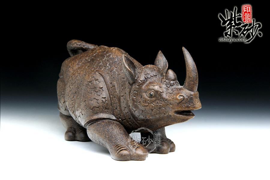 雕塑作品犀牛头部